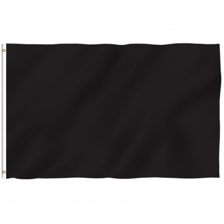 Solid Black 3' x 5' Polyester Flag