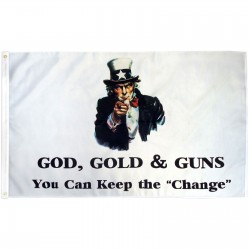 God, Gold, & Guns 3' x 5' Polyester Flag