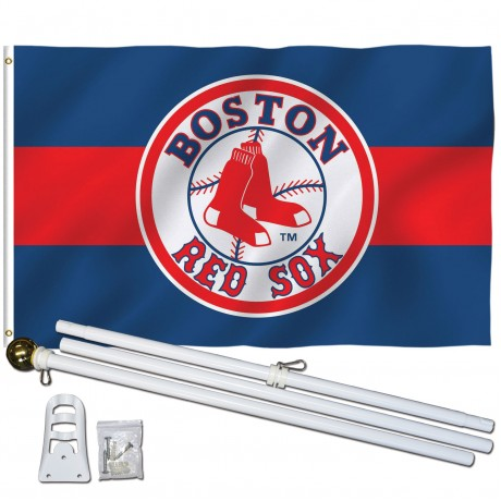 Boston Red Sox 3' x 5' Polyester Flag, Pole and Mount