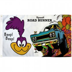 Plymouth Road Runner Car 3' x 5' Polyester Flag