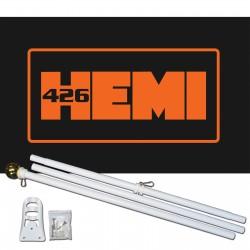 426 Hemi 3' x 5' Polyester Flag, Pole and Mount