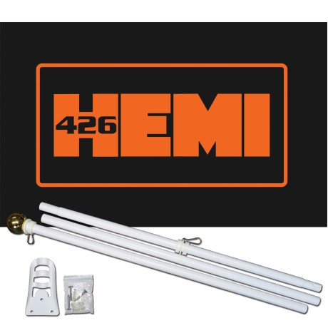 426 Hemi 3' x 5' Polyester Flag, Pole and Mount