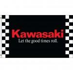 Kawasaki Black 3' x 5' Polyester Flag