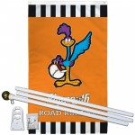 Plymouth Road Runner Vertical 3' x 5' Polyester Flag, Pole and Mount