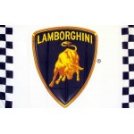 Lamborghini Racing White 3' x 5' Polyester Flag