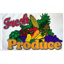 Fresh Produce 3' x 5' Polyester Flag