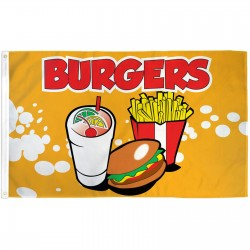 Burgers 3' x 5' Polyester Flag