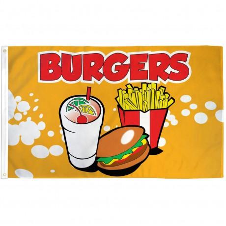 Burgers 3' x 5' Polyester Flag