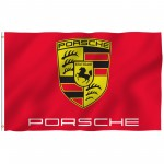 Porsche Red 3' x 5' Polyester Flag