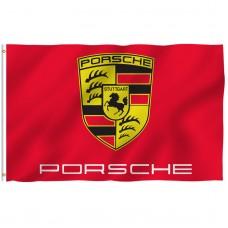 Porsche Red 3' x 5' Polyester Flag
