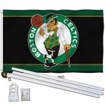 Boston Celtics 3' x 5' Polyester Flag, Pole and Mount