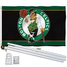 Boston Celtics 3' x 5' Polyester Flag, Pole and Mount
