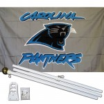 Carolina Panthers 3' x 5' Polyester Flag, Pole and Mount