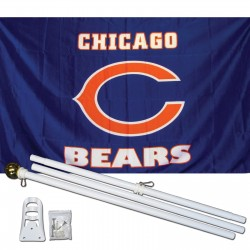 Chicago Bears Blue 3' x 5' Polyester Flag, Pole and Mount