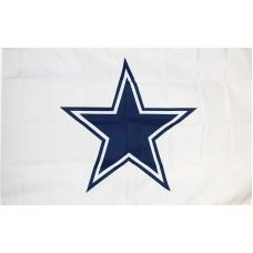 Dallas Cowboys White 3' x 5' Polyester Flag