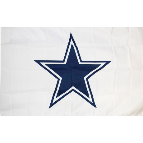 Dallas Cowboys White 3' x 5' Polyester Flag