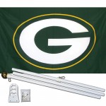 Green Bay Packers 3' x 5' Polyester Flag, Pole and Mount