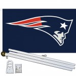 New England Patriots 3' x 5' Polyester Flag, Pole and Mount