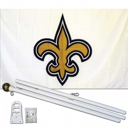New Orleans Saints 3' x 5' Polyester Flag, Pole and Mount