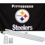 Pittsburgh Steelers 3' x 5' Polyester Flag, Pole and Mount