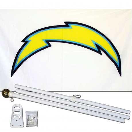 San Diego Chargers 3' x 5' Polyester Flag, Pole and Mount