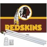 Washington Redskins 3' x 5' Polyester Flag, Pole And Mount