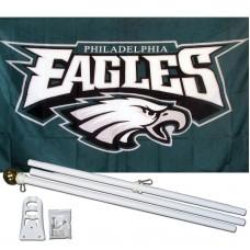 Philadelphia Eagles 3' x 5' Polyester Flag, Pole and Mount