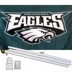 Philadelphia Eagles 3' x 5' Polyester Flag, Pole and Mount