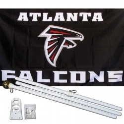 Atlanta Falcons 3' x 5' Polyester Flag, Pole and Mount
