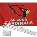 Arizona Cardinals 3' x 5' Polyester Flag, Pole and Mount