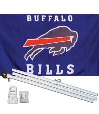 Buffalo Bills 3' x 5' Polyester Flag, Pole and Mount