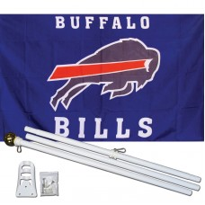 Buffalo Bills 3' x 5' Polyester Flag, Pole and Mount