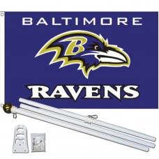 Baltimore Ravens 3' x 5' Polyester Flag, Pole and Mount