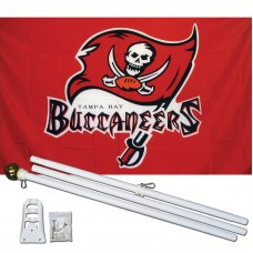 Tampa Bay Buccaneers 3' x 5' Polyester Flag, Pole and Mount