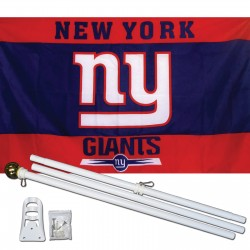 New York Giants 3' x 5' Polyester Flag, Pole and Mount