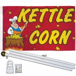 Kettle Corn 3' x 5' Polyester Flag, Pole and Mount
