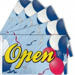 Open Balloons 3' x 5' Polyester Flag - 5 Pack