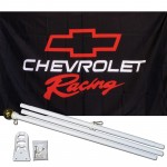 Chevrolet Racing 3' x 5' Polyester Flag, Pole and Mount