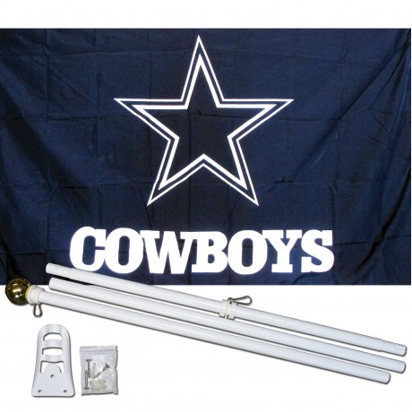 Dallas Cowboys 3' x 5' Polyester Flag, Pole and Mount