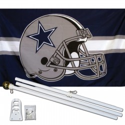 Dallas Cowboys Helmet 3' x 5' Polyester Flag, Pole and Mount