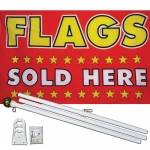 Flags Sold Here 3' x 5' Polyester Flag, Pole and Mount