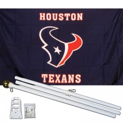 Houston Texans 3' x 5' Polyester Flag, Pole and Mount