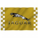 Jaguar Gold Checkered 3' x 5' Polyester Flag