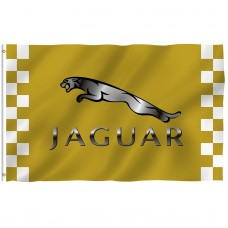Jaguar Gold Checkered 3' x 5' Polyester Flag