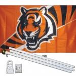 Cincinnati Bengals Mascot 3' x 5' Polyester Flag, Pole and Mount