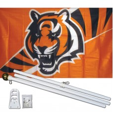 Cincinnati Bengals Mascot 3' x 5' Polyester Flag, Pole and Mount