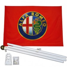 Alfa Romeo 3' x 5' Polyester Flag, Pole and Mount