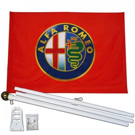 Alfa Romeo 3' x 5' Polyester Flag, Pole and Mount