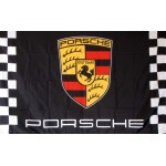 Porsche Black Checkered 3' x 5' Polyester Flag