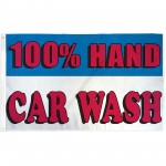 100% Hand Car Wash 3' x 5' Polyester Flag